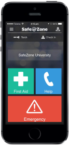 CriticalArc's Safe Zone app on an iPhone