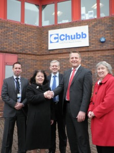 Left to Right: Graeme Heanan, Cllr Kate Hollern, Craig Forbes, Alastair Reynolds and Cllr Maureen Bateson