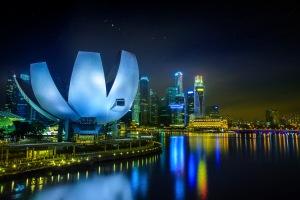 Singapore's business district
