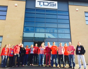 Team TDSi at hq on the day of the British Heart Foundation-centred event