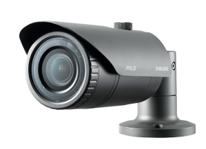Samsung Techwin's SNO-L6083R 2 Megapixel Full-HD weatherproof network IR bullet camera complete with varifocal lens