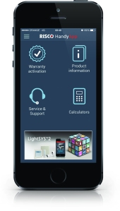 RISCO's Handy App for the iPhone