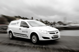 One of Ward Security's mobile patrol vehicles