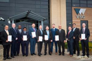 VSG's proud officers with the regional BSIA Awards for 2015