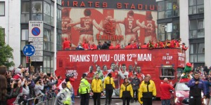 Showsec provided security for Arsenal's FA Cup victory parade in London