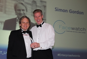 Simon Gordon (left) receives his award