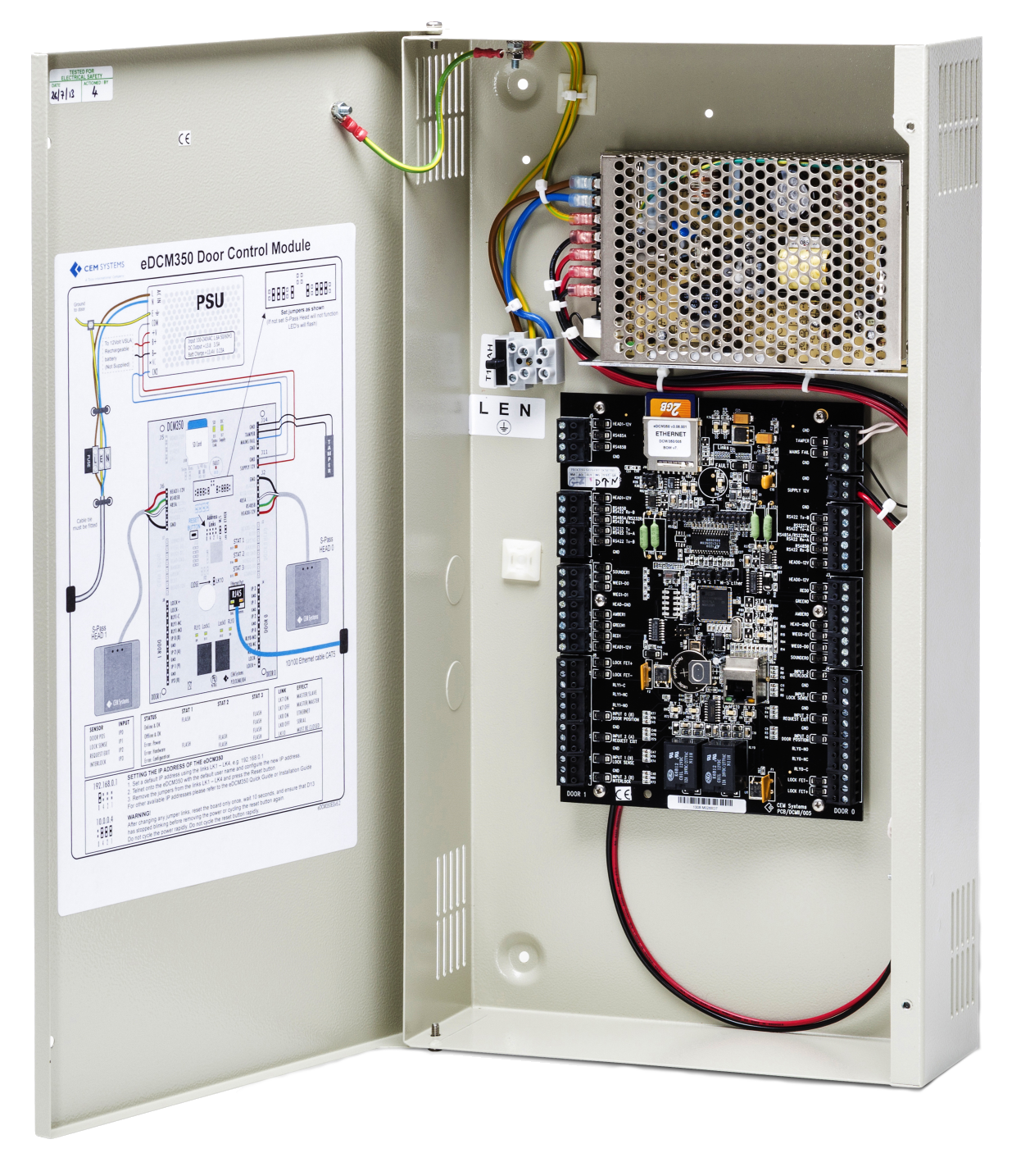 Detail of the eDCM 350 door controller  sc 1 st  TheSecurityLion - WordPress.com & CEM Systems releases OSDP v2 compliant door controller to support ...