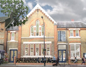 Artist's impression of the East Dulwich Picturehouse Cinema