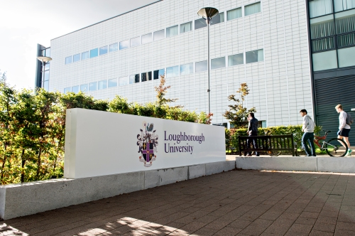 Loughborough University Entrance Signs.